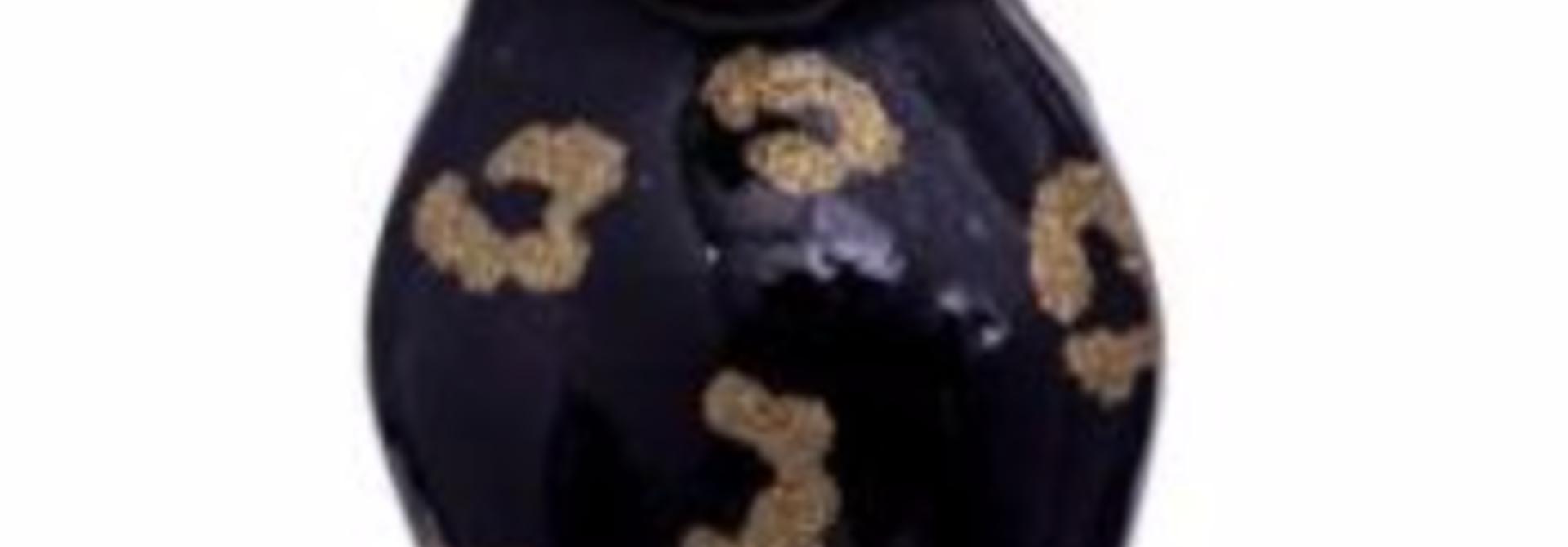 Kersthanger black panther w/glitter print (H 12 cm)