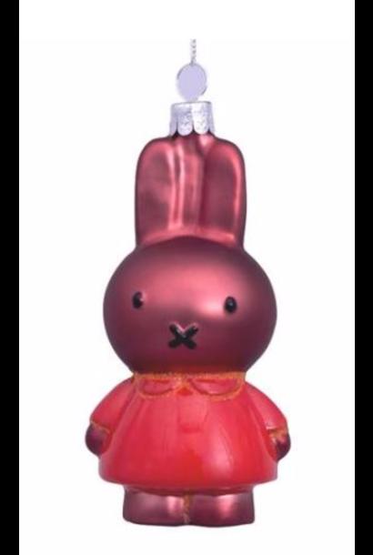 Kersthanger Nijntje / Miffy oranje jurk (H 11cm)