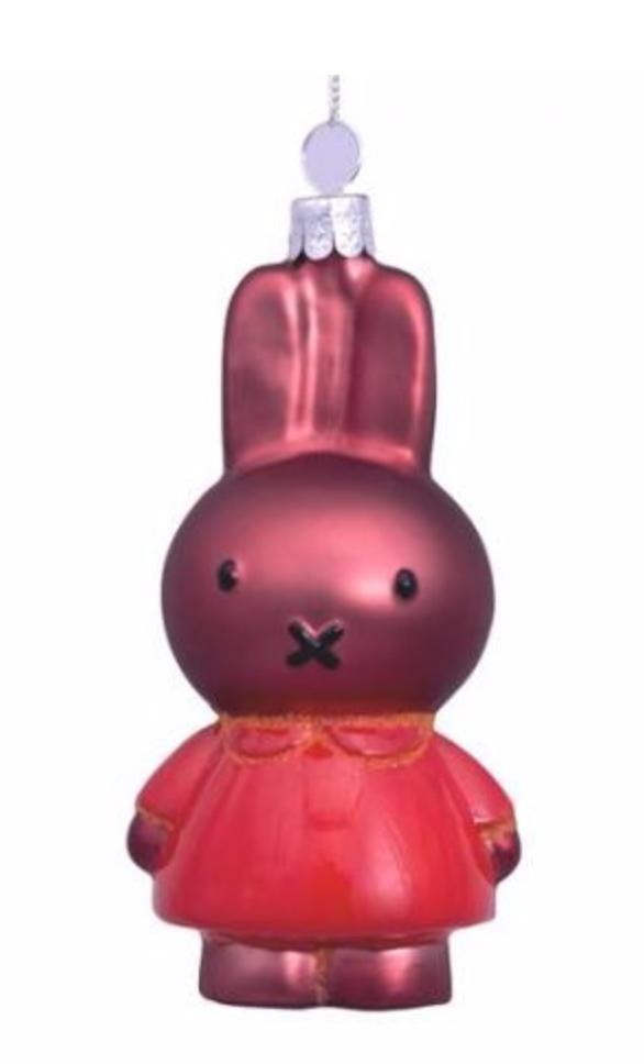 Kersthanger Nijntje / Miffy oranje jurk (H 11cm)-1