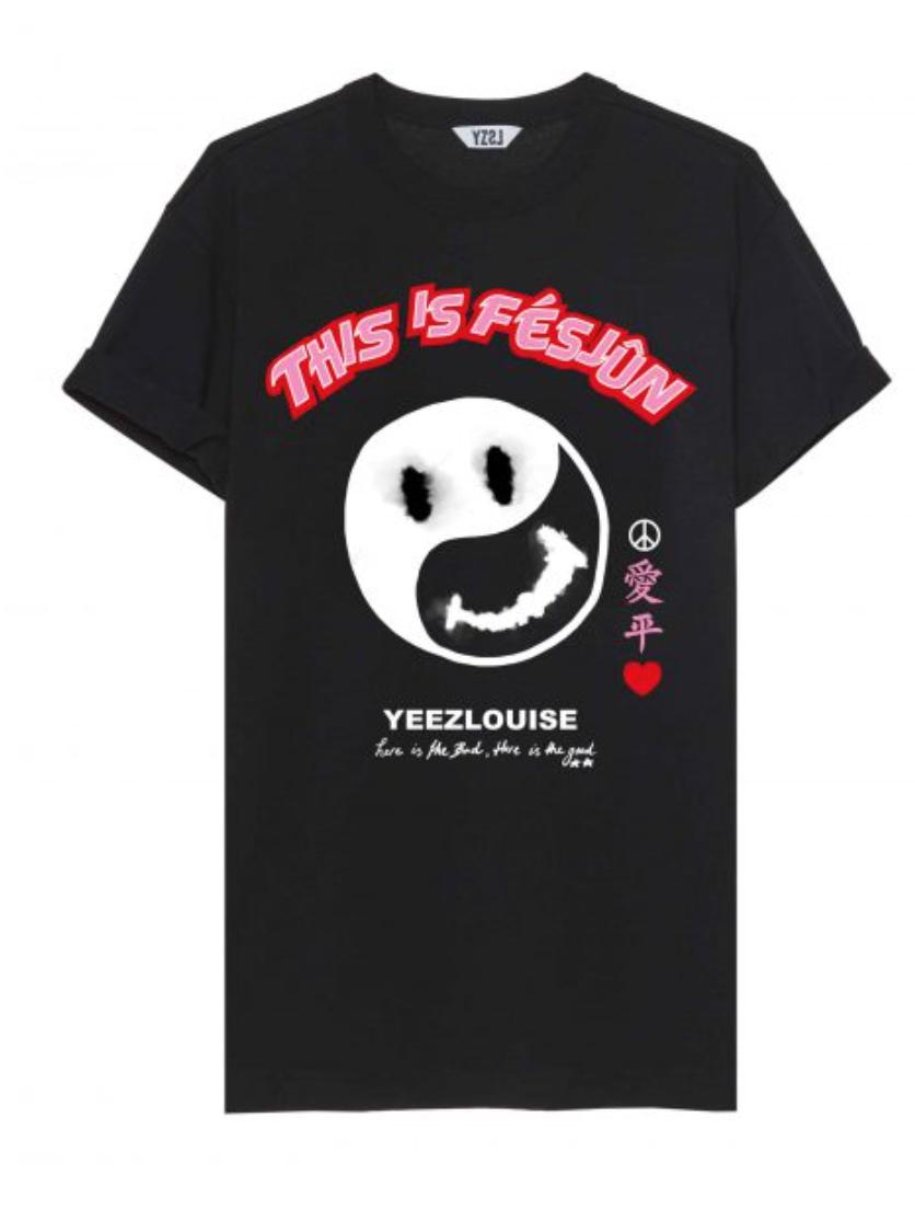 Fesjun tee black  YZLS N15-1