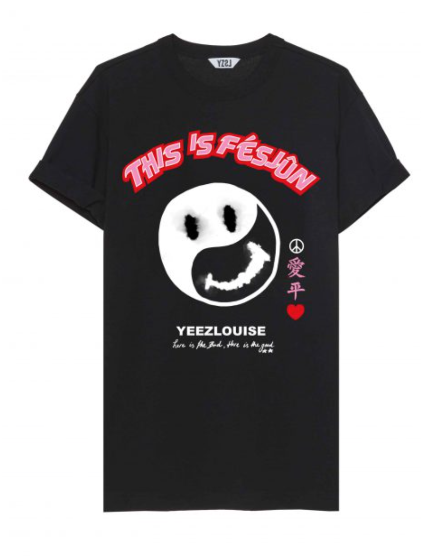 Fesjun tee black  YZLS N15-3