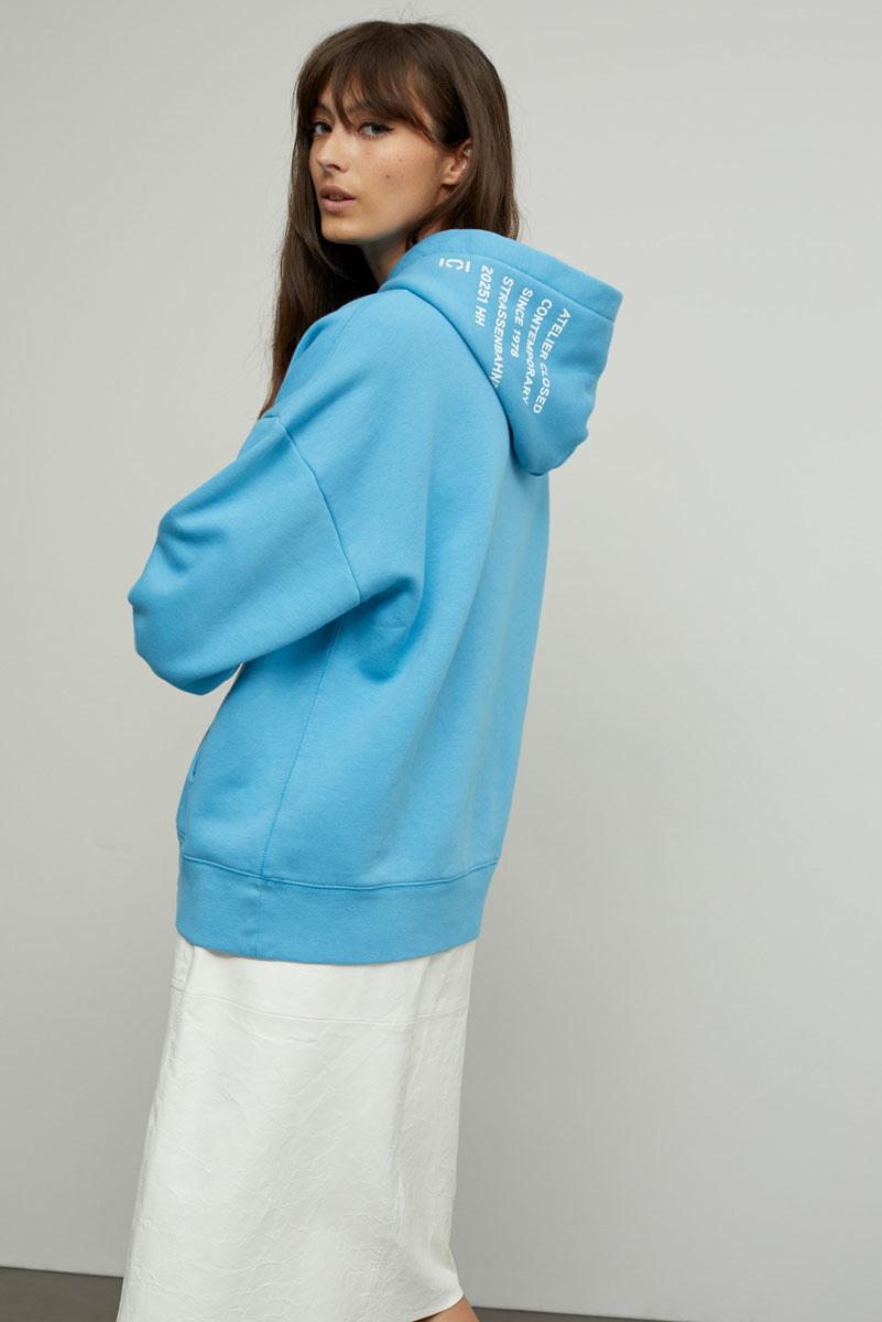 Hoodie blue-2