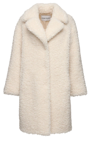 Camille cocoon coat  offwhite