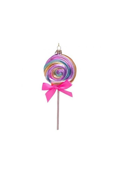 Kersthanger multi soft color lollypop (H 21cm)