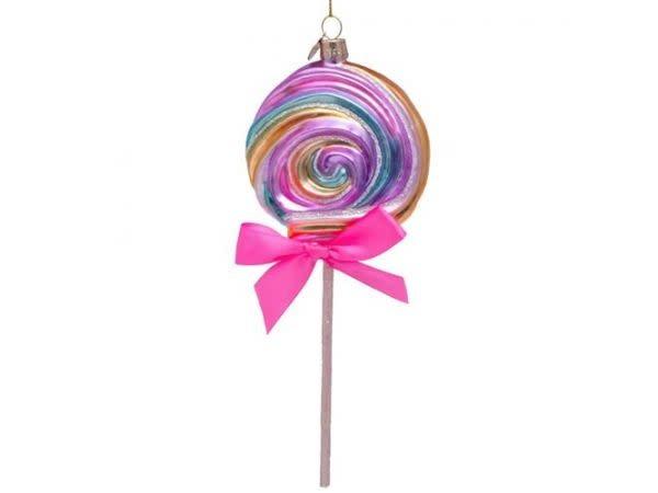 Kersthanger multi soft color lollypop (H 21cm)-1
