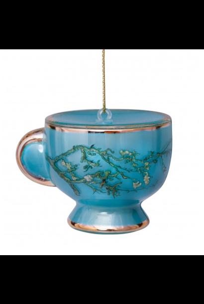 Kersthanger van Gogh Theekop Amandelbloesem Blauw