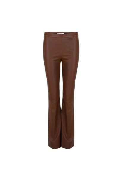 Tyson flare leather pants