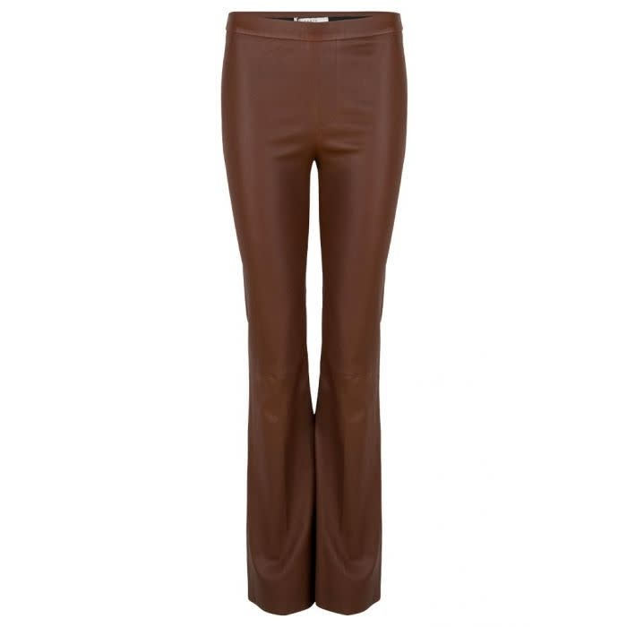 Tyson flare leather pants-1