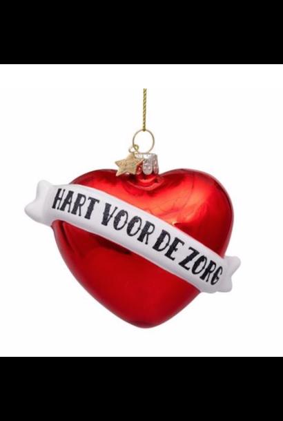 Kersthanger hart voor de zorg (8.5 cm)