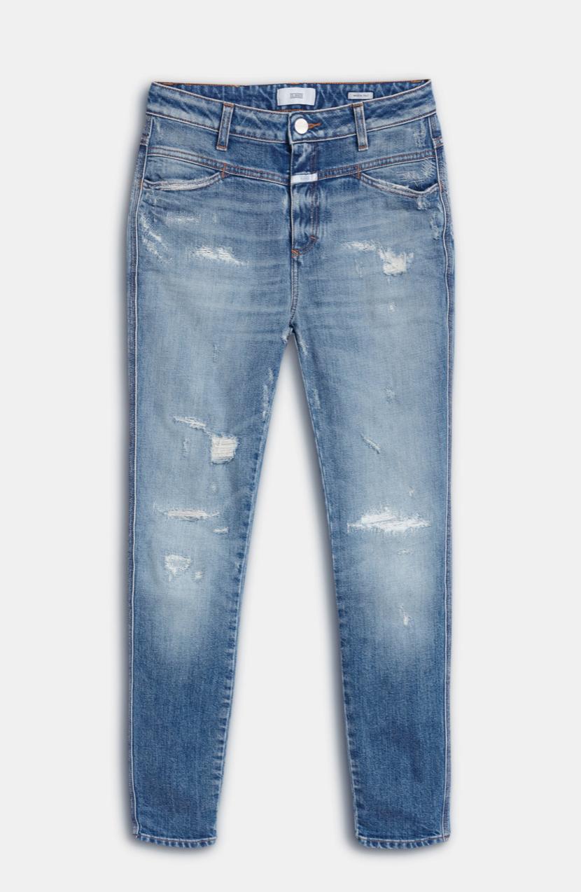 Skinny pusher organic mid blue-6