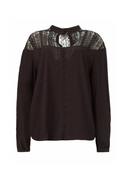 Camdyn lace detail blouse