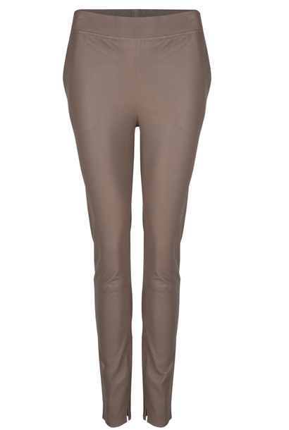 Lebon leather pants taupe