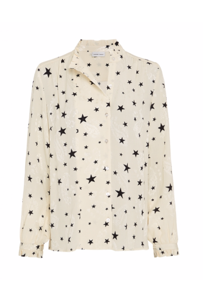 Garden Cato blouse warm white/ starry night