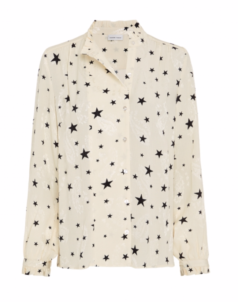 Garden Cato blouse warm white/ starry night-1