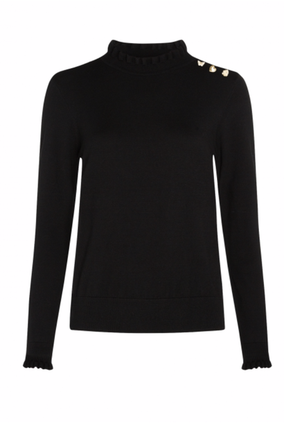 Molly Frill Pullover black