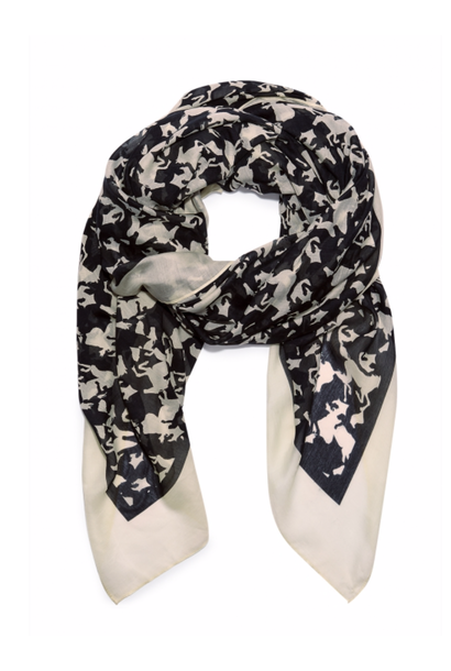 Florence scarf black/warm white