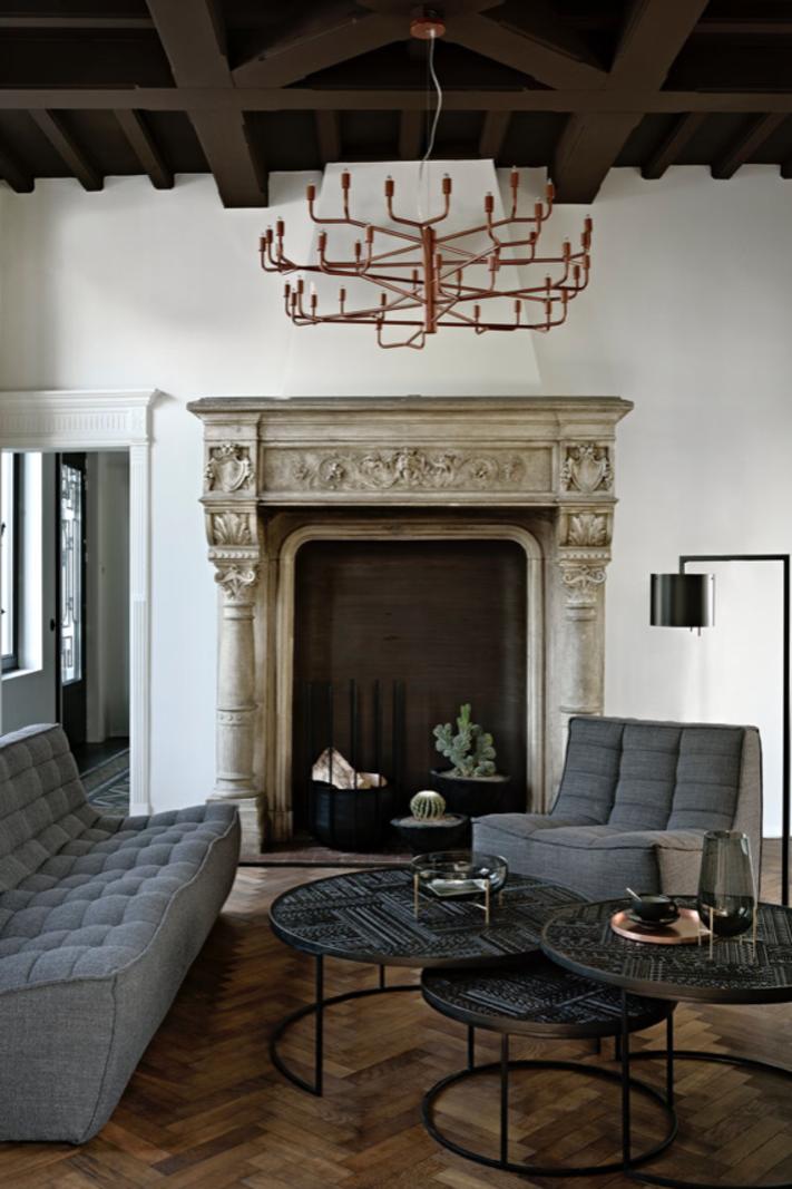 Ethnicraft N701  sofa 3 seater grey