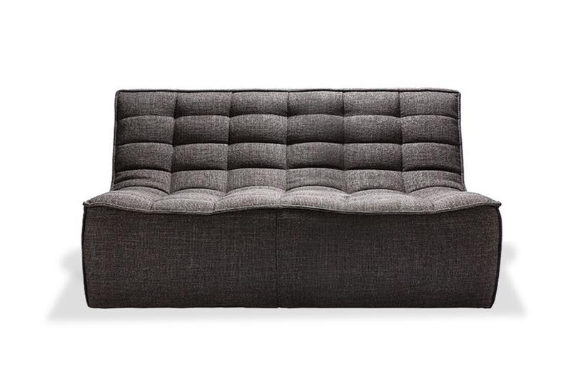 Ethnicraft N701 sofa 2 seater grey