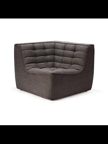 Ethnicraft N701 sofa - corner dark grey