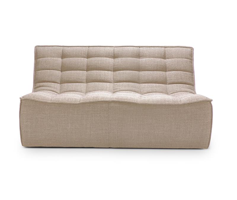 Ethnicraft N701 sofa - 2 seater beige