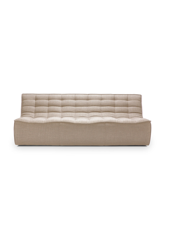 Ethnicraft N701 sofa - 3 seater beige
