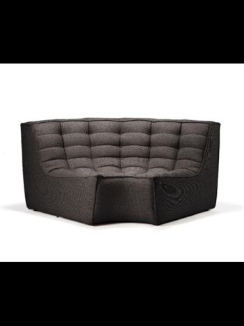 Ethnicraft N701 sofa - round corner dark grey
