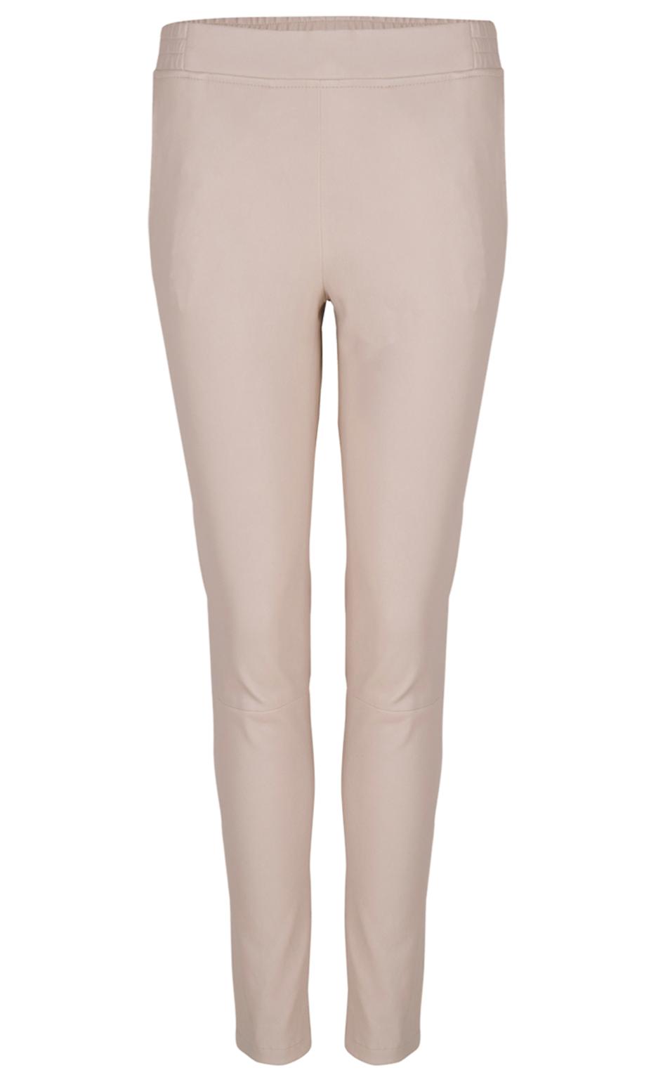 Lebon stretch leather pants Sand-1