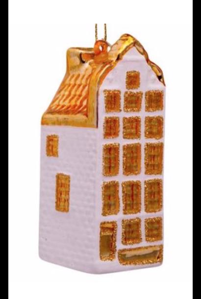 Kersthanger white Matt/gold canal house
