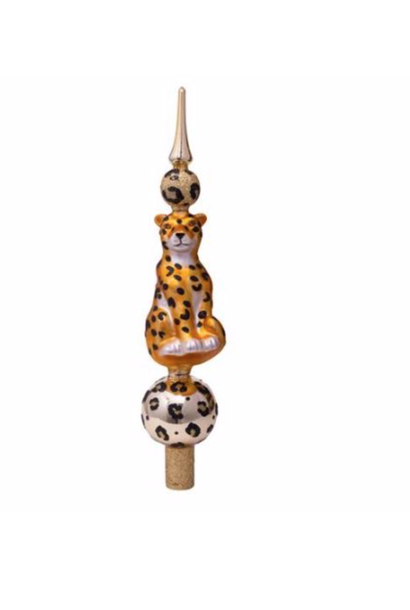 Tree topper leopard gold H31