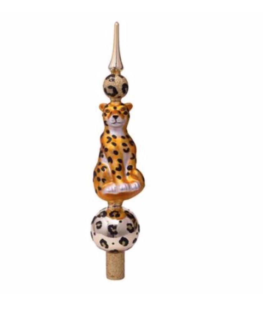 Tree topper leopard gold H31-1