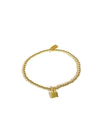 Ps Call Me Bracelet gold lock small