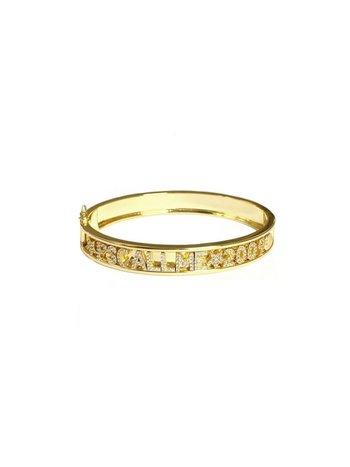 Ps Call Me Bracelet gold bangle