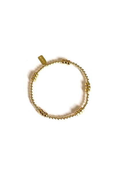 Bracelet gold rondel 5 gold