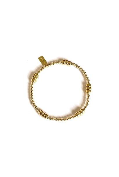 Rondel gold bracelet