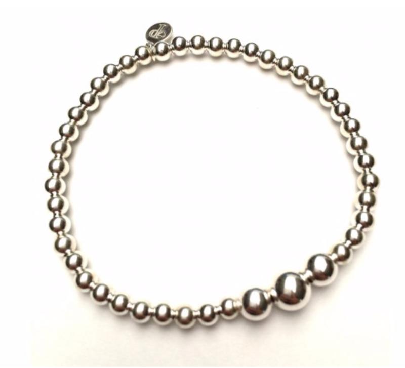 Ps Call Me Bracelet 3 beads zilver