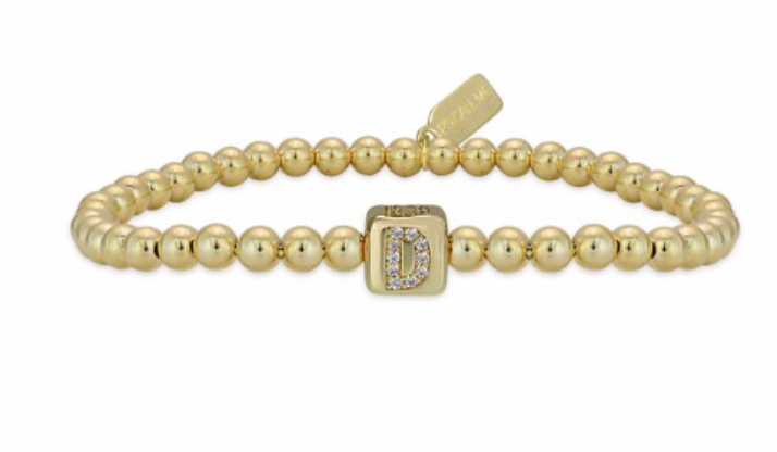 Bracelet gold personal initials-1