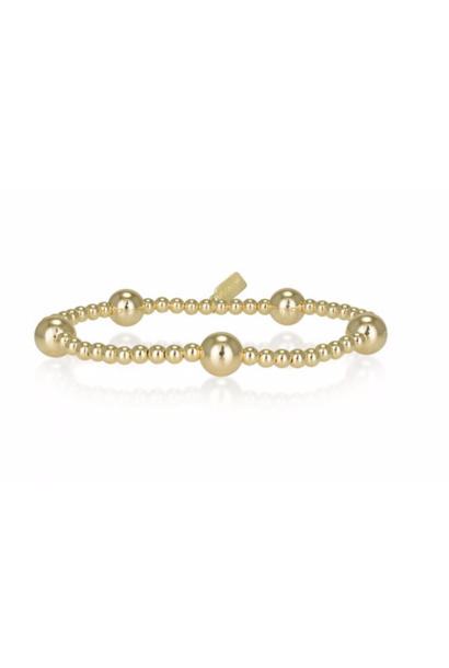 Bracelet gold dot 5