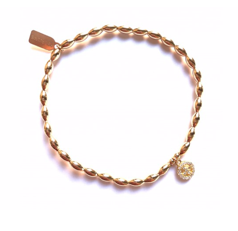 Basic oval small peace gold-1