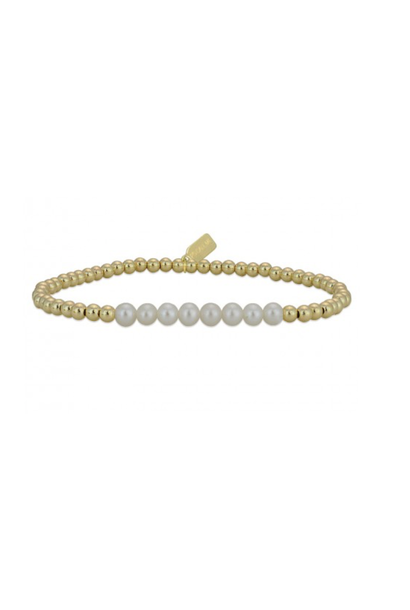 Bracelet gold change pearl