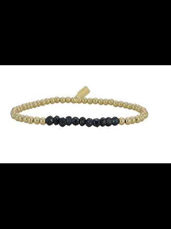 Ps Call Me Bracelet gold change onyx