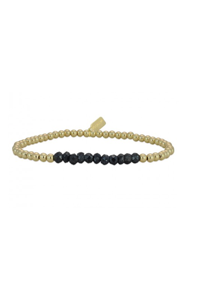 Bracelet gold change onyx