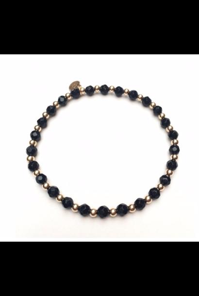 Bracelet gold mix onyx