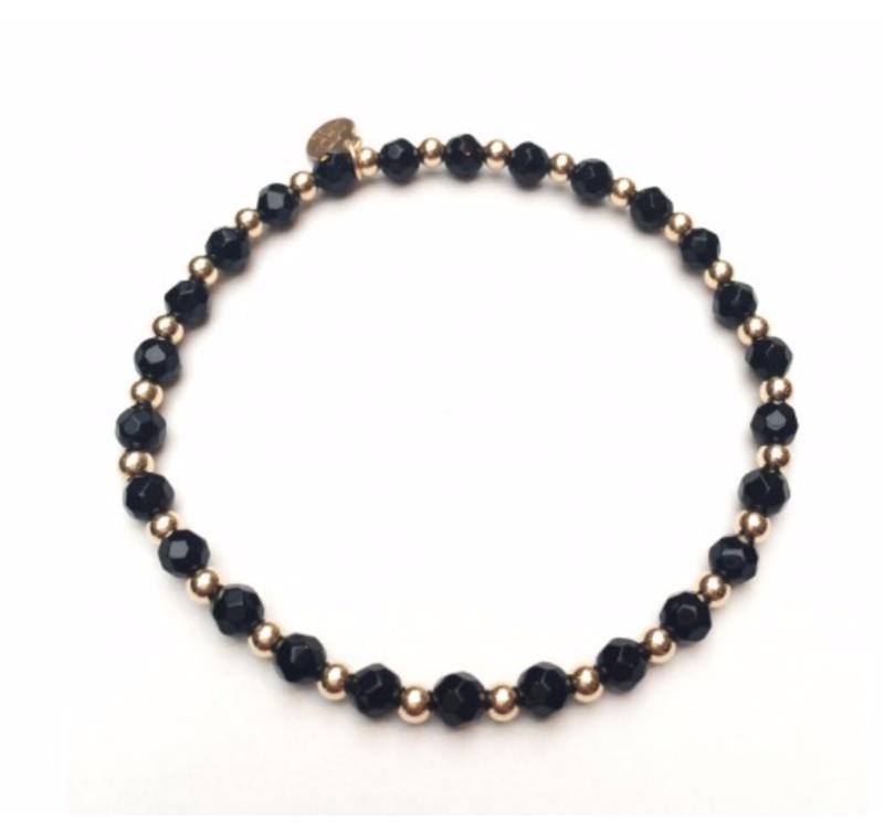 Ps Call Me Bracelet gold mix onyx