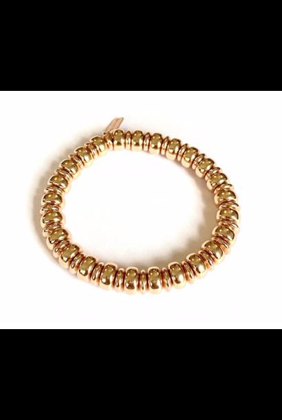Bracelet rosé wheel 10mm