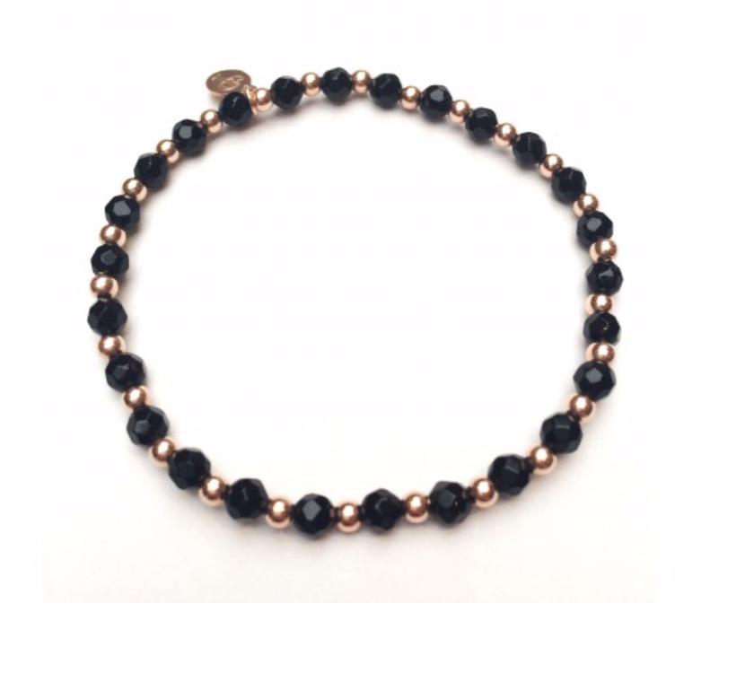 Bracelet rosé mix onyx-1