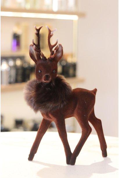 Reindeer 26cm Brown w/fauxfur