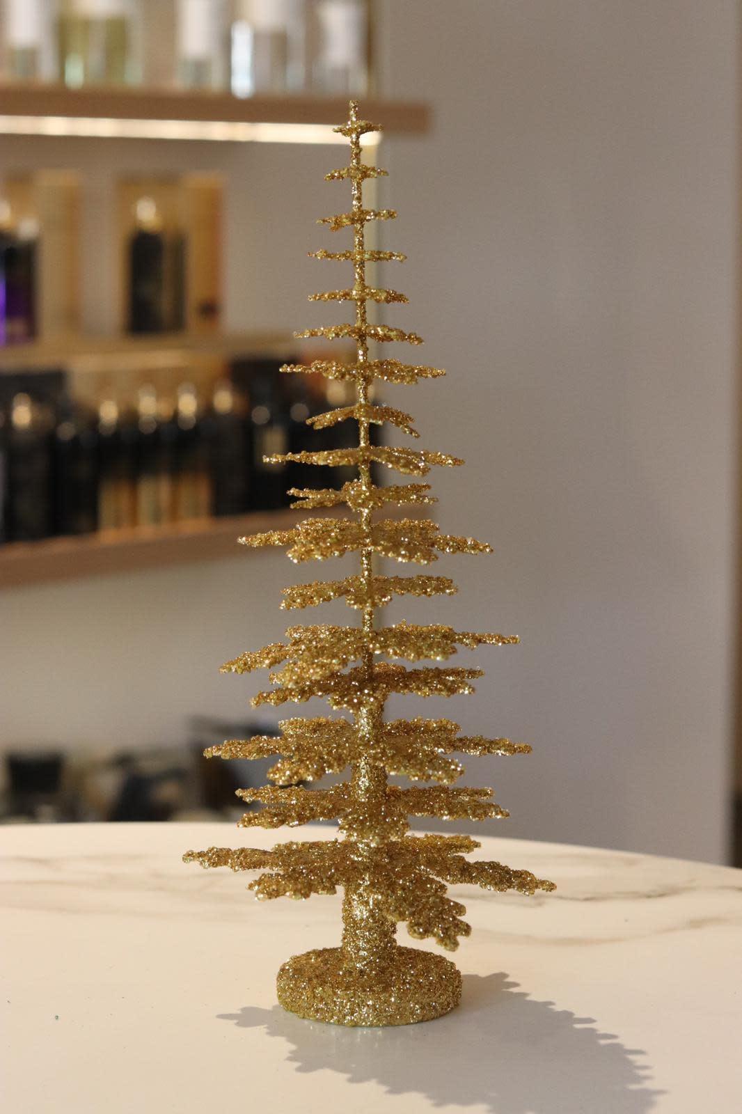 Christmas tree gold Middel (30 cm)-1