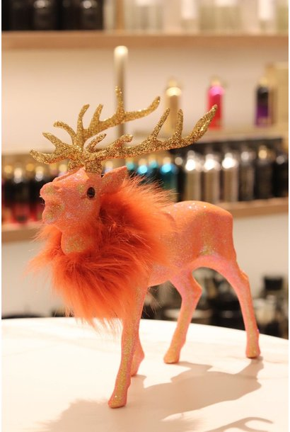 Reindeer Fluo Orange with fauxfur M