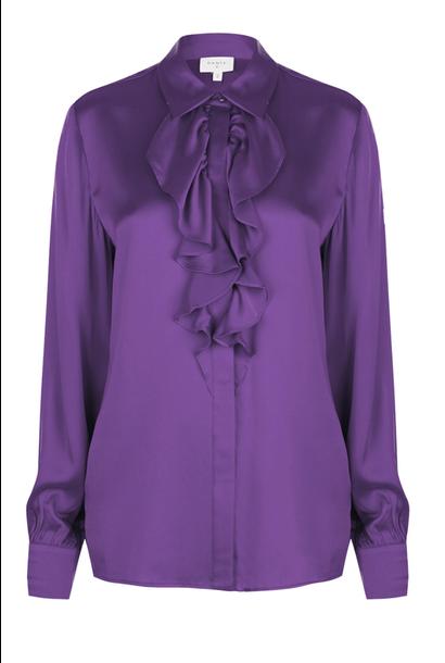 Sylvain silk ruffle blouse