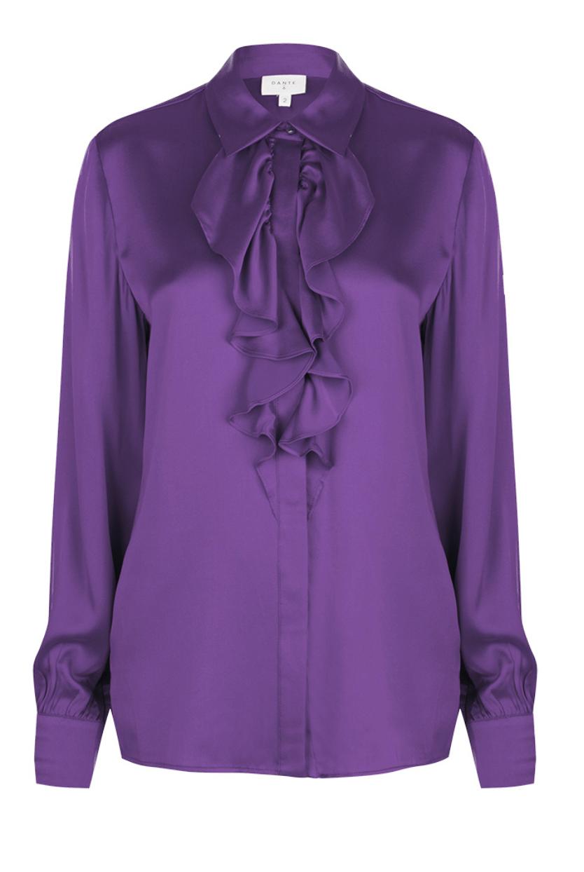 Sylvain silk ruffle blouse-2